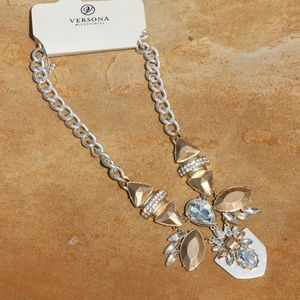New! Boho Crystal & Rhinestone Statement Necklace